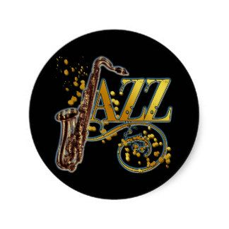JAZZ CLASSIC ROUND STICKER