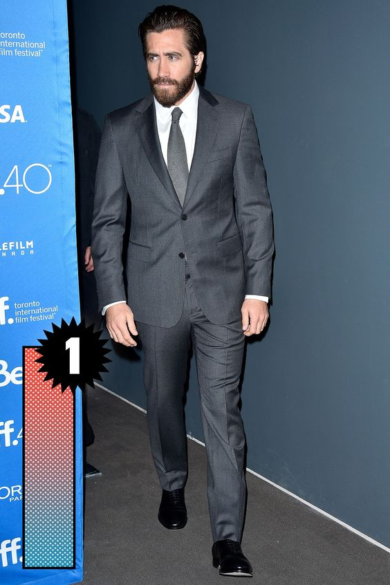 Jake G is shaping up to be the best dressed man of the year. Simple, tailored suits, with monochrome ties and no frills. Perfect.    - Esquire.com