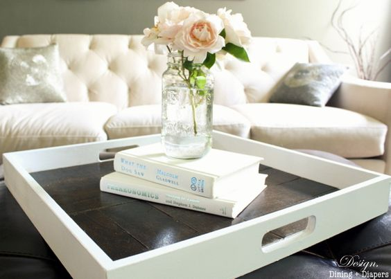 DIY Tray Transformation from designdininganddiapers.com #upcycled #shabbychic