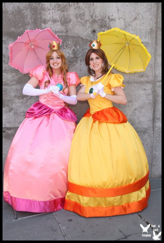 princess peach and daisy by ttcosplay on deviantart kids clothes costumes pinterest wir. Black Bedroom Furniture Sets. Home Design Ideas