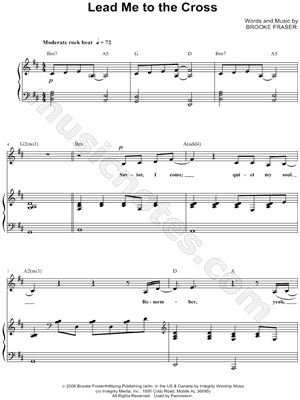 I found digital sheet music for Lead Me To the Cross at Musicnotes ...