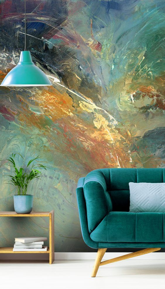 Intangable Wall Mural By Anne Farrall Doyle Wallsauce Us Accent Walls In Living Room Feature Wall Living Room Wallpaper Living Room