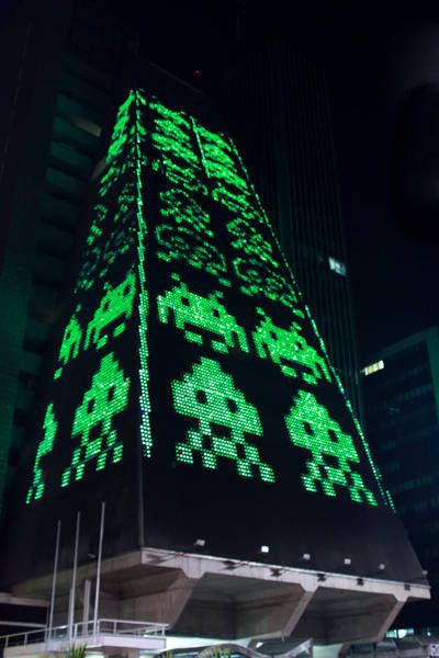 space invader tower