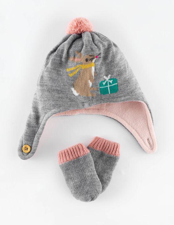Mütze- & Fäustlinge-Set für den Winter