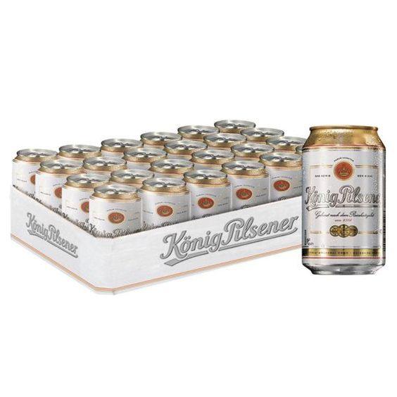 Bia Konig Pilsener 4,9% - Lon 330ml - Bia Nhập Khẩu