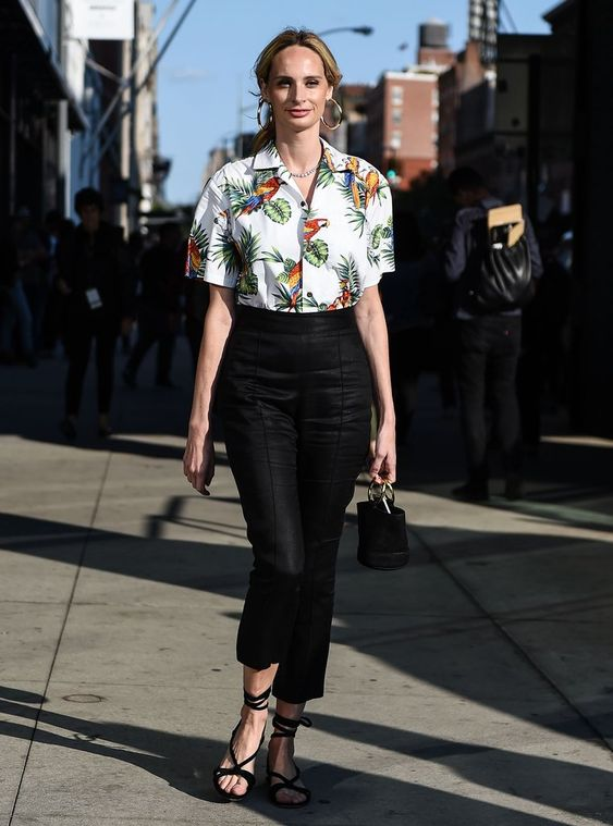Ground a Tropical Shirt With Sleek Black Trousers