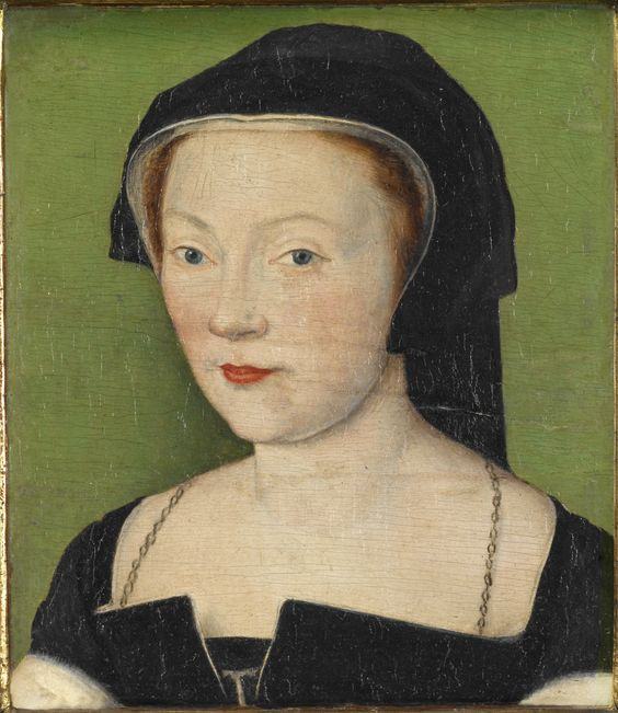 "Circle of Corneille de Lyon (Netherlandish, 1500–1575), ""Portrait of Marie de Guise,"" about 1550, oil on panel, 5-1/2 × 4-1/8 in. Indianapolis Museum of Art at Newfields, The Clowes Collection, 2017.88."