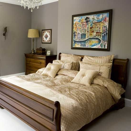 Bedroom Chairs At The Range Curtains On Bedroom Wall Master Bedroom Lighting Ideas Bedroom Design Inspiration: Gold Bedroom, Bright Art And Grey Walls On Pinterest