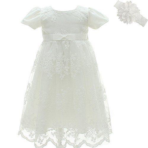 AHAHA Baby Dress Christening Dress for Baby Girls Wedding Party Flower Dress