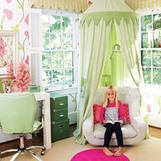 I think this one from Southern Living is adorable. Used it in a post talking about how to create a reading nook for your child.