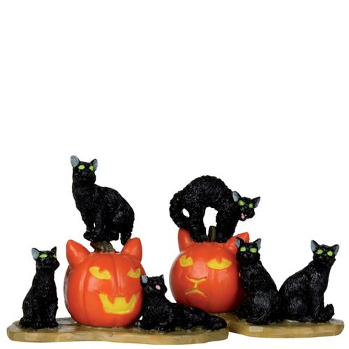 Halloween Cats Lemax Spooky Town Spooky Town Lemax Halloween
