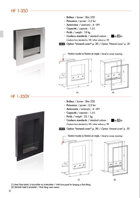 Concept mural de foyers ethanol déclinés en 8 modèles - Ignisial - Cheminées décoratives et design au bio éthanol