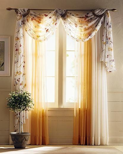curtain with scallops: