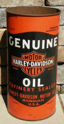 Harley davidson motorcycles 1 quart oil can shaped for Harley davidson motor company group inc