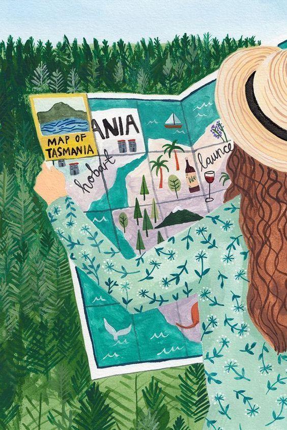 Painted travel illustration by Miranda Sofroniou