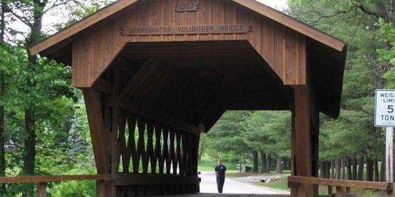 Springwater Volunteer Covered Bridge   Travel Wisconsin
