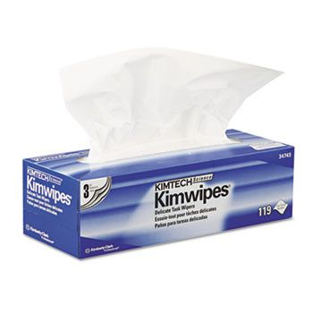 Kimwipes Delicate Task Wipers, 3-Ply, 11 4/5 X 11 4/5, 119/box, 15 Boxes/carton