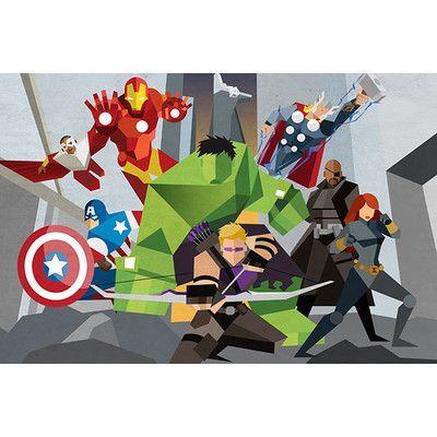 Avengers Assmeble Geometric: Avengers by Marvel Comics Graphic Art on Canvas | Wayfair