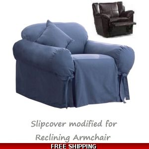 Magnificent Dual Reclining Sofa Slipcover Suede Chocolate Sure Fit Creativecarmelina Interior Chair Design Creativecarmelinacom