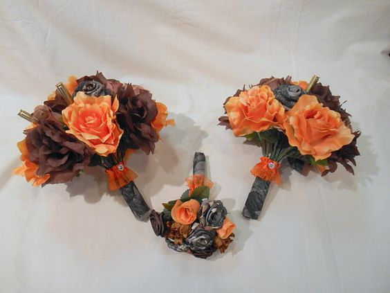 Camo Wedding Bouquet Bridal Bouquet by BouquetsByKeepsakes on Etsy