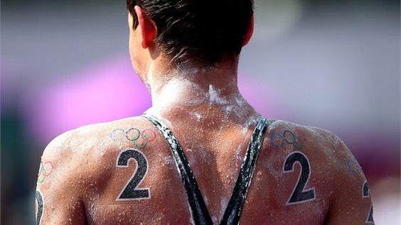 Benjamin Schulte of Guam pictured after the men's Marathon 10km swim on Day 14 of the London 2012 Olympic Games.