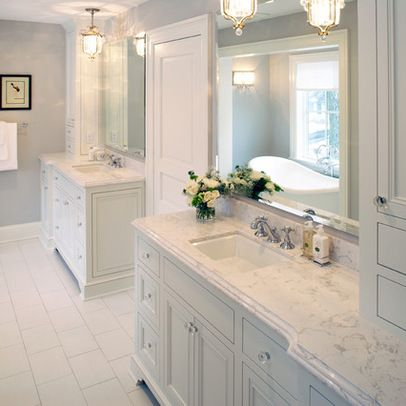 Beautiful coloring and vanities on pinterest for Master bathroom countertops
