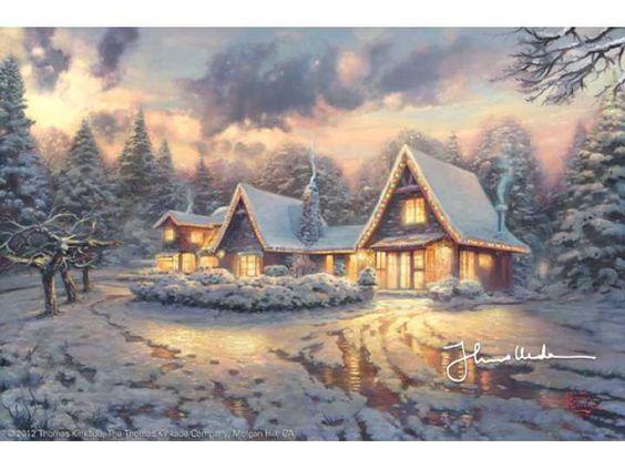 Thomas Kinkade Christmas Lodge