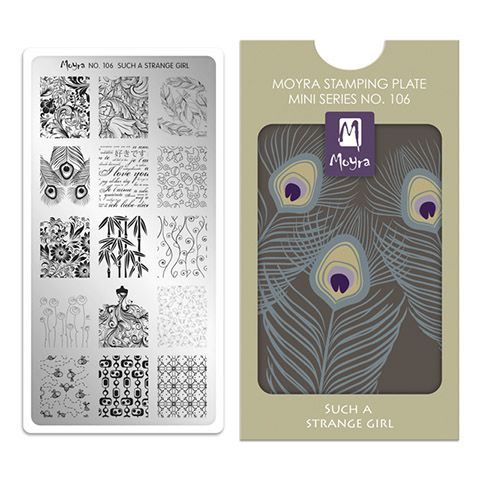 Moyra Mini Stamping Plate 106- Such a Strange Girl