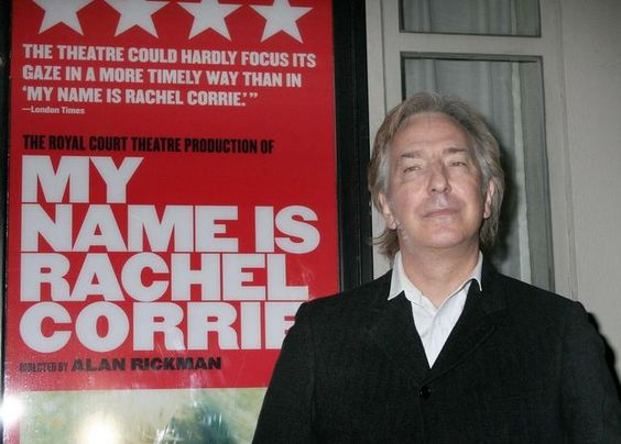 """Alan Rickman - at the October 15, 2006 New York, NY premiere of """"My Name is Rachel Corrie"""". He was the co-editor and director of this play"""