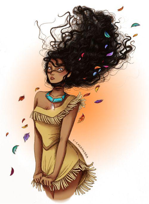 Pocahontas (Curly Hair by C-Cassandra @Tumblr) #Pocahontas