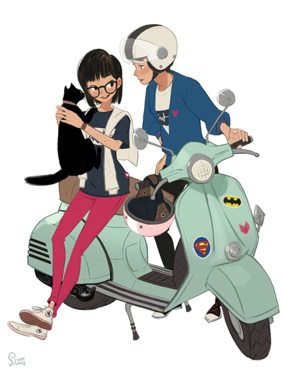 Cartoon Characters Couples : The nice couple and berets on pinterest