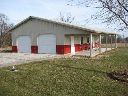 Pole barn package 30x40x10 kit garage post frame plans for Horse pole barn plans