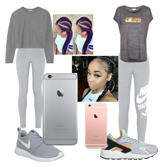 """""""Twin goals"""" by mldavis1015 on Polyvore featuring NIKE, T By Alexander Wang and River Island"""