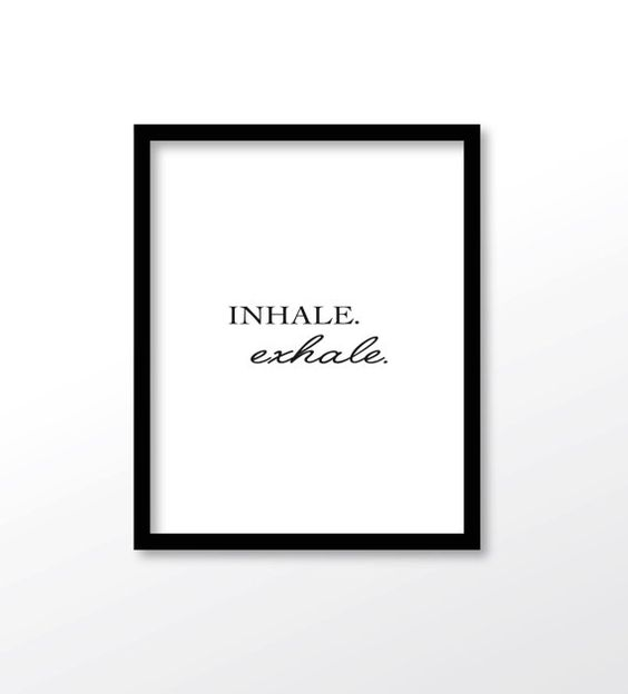 $2.99 Inhale Exhale Print Yoga Wall Art Wall Prints by dadaprintables