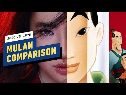 Disney S Mulan Trailer Side By Side Comparison 2020 Vs 1998 Mulan Disney S Comparison