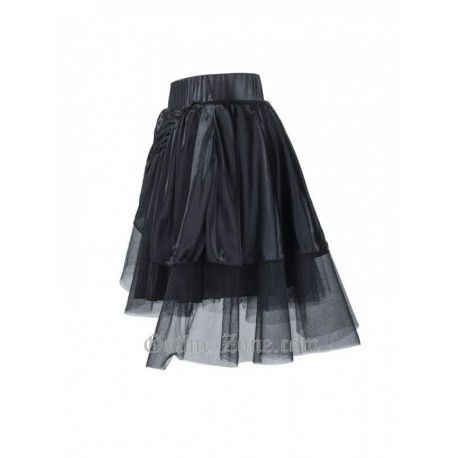Black Mini Skirt with Zippers and Belt