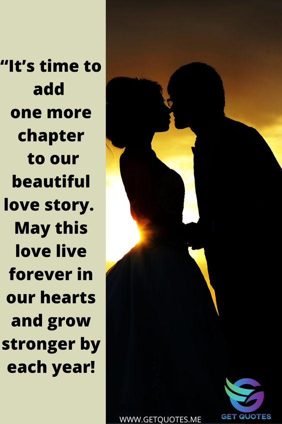 """""""It's time to add one more chapter to our beautiful love story. May this love live forever in our hearts and grow stronger by each year! . ."""