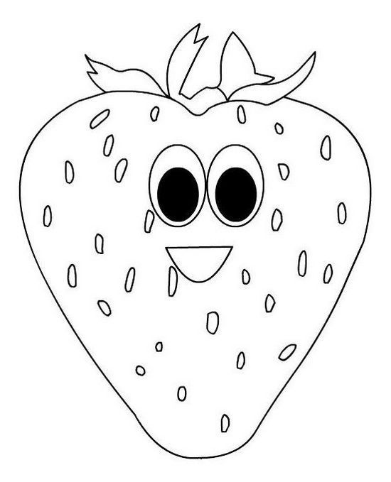 - Strawberry With Face Coloring Food With Face Coloring Book Fruit Coloring  Pages, Coloring Books, Coloring Pages For Kids