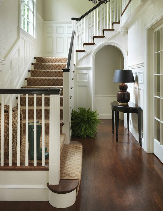 Traditional entry by Hudson Interiors.