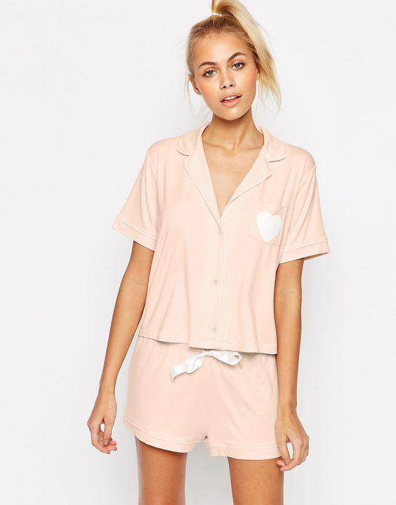 Image 1 - ASOS - Ensemble tradi chemise et short de pyjama