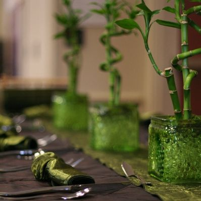 Bamboo table centerpieces