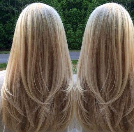 Lange stufenschnitt haare für blonde Stufenschnitt lange