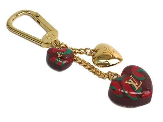 LOUIS VUITTON Leopard Key holder Metal/Resin Rouge M66261 (BF109346)
