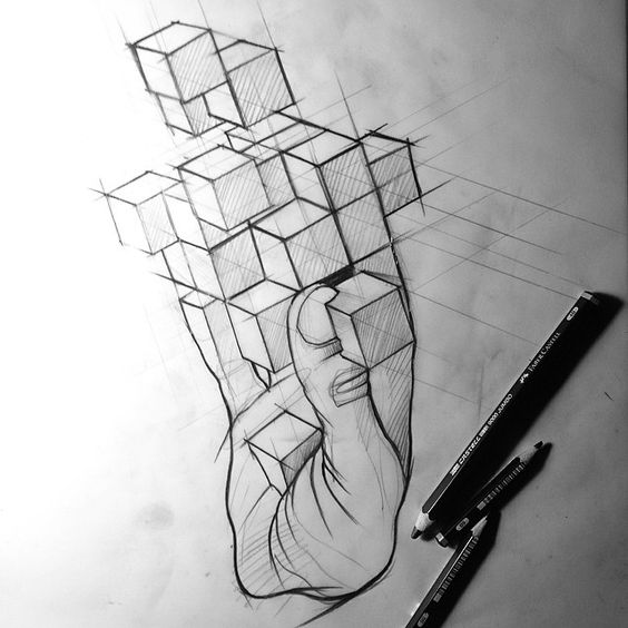 #tattoo #sketch #ink #inked #blackworkers #cubehand #dream #istanbul #berlin