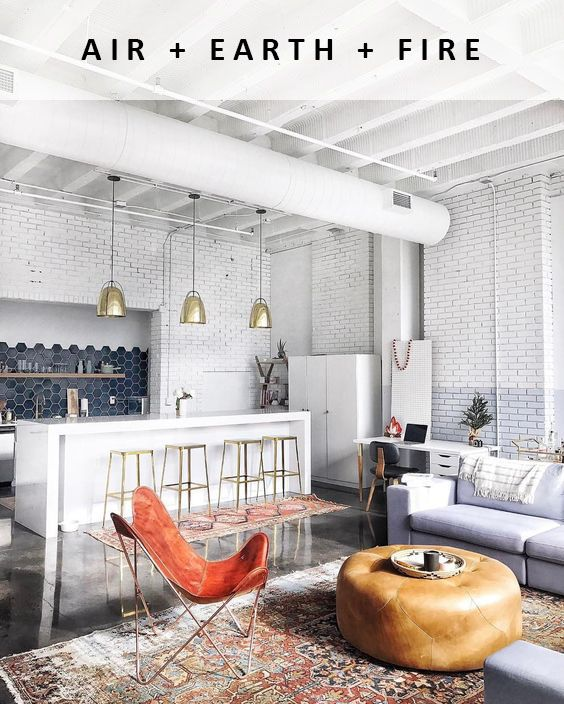 Air Earth Fire Feng Shui Interior Design It S Pretty Easy To See When A Space Is Balanced You Don T Feel Ov Living Room Loft Loft Living House Interior
