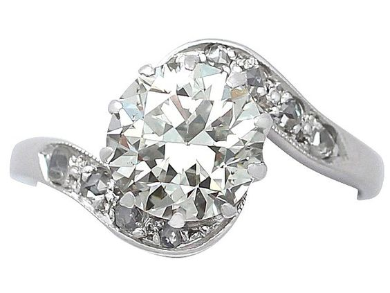 '1.42 ct Diamond & White Gold Solitaire Ring - Vintage' http://www.acsilver.co.uk/shop/pc/1-42-ct-Diamond-and-18-ct-White-Gold-Solitaire-Twist-Ring-Vintage-Circa-1940-176p7684.htm
