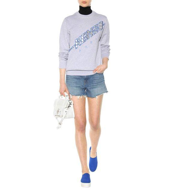 mytheresa.com - Embroidered cotton sweatshirt - Luxury Fashion for Women / Designer clothing, shoes, bags