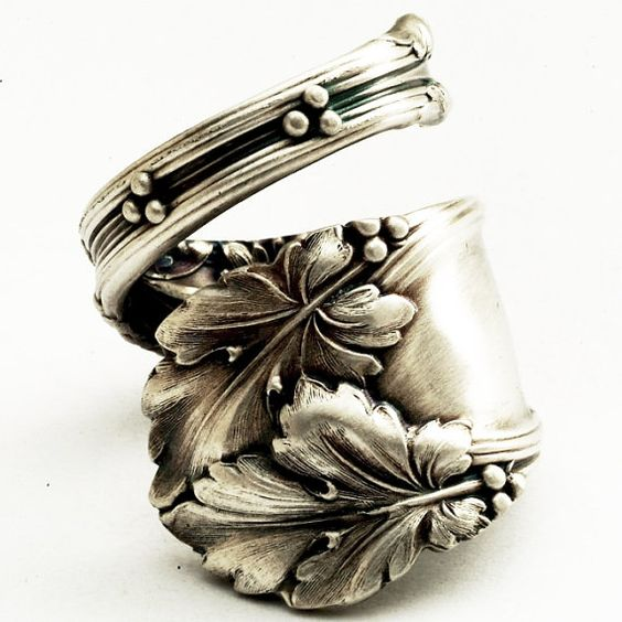 "Lovely sterling ""spoon ring"" - Spoonier on Etsy."