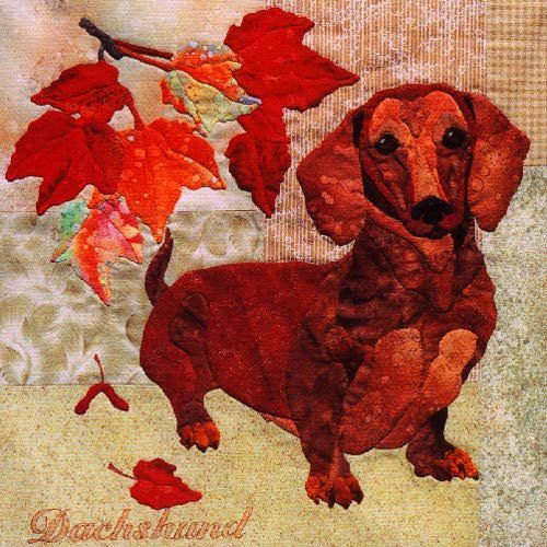 Block 1 Dachshund From Summer S End Quilt By Maggie Walker