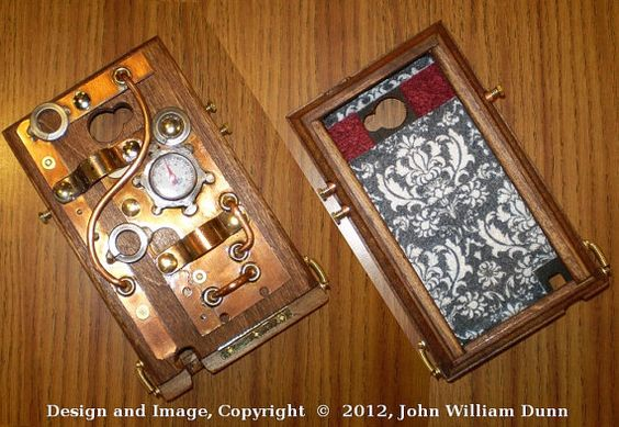 """The """"eCog Aeneas"""" (tm) """"GN3 Boilerplate"""" Ed. Steampunk case for the Samsung Galaxy Note 3 (tm) smartphone. #steampunk"""